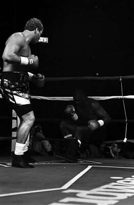 LARGE OLD BOXING PHOTO Tommy Morrison Knocks Out Marshall Tillman • 4.69£
