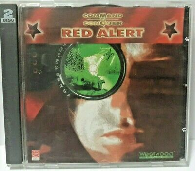 AU19.95 • Buy Command And Conquer Red Alert 1996 PC CD-ROM 2 Discs Game Virgin Westwood &
