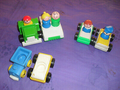 Vintage Fisher Price Little People And 6 Vehicles • 6£