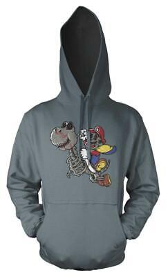 Dino Rider Gaming Mario Skull Riding Dinosaur Adult Hoodie • 16.99£