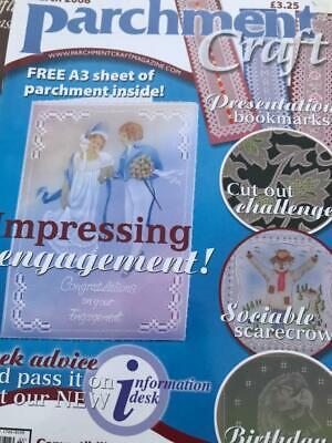 Parchment Craft Magazine March 2008 Engagement Card, Scarecrow, Bald Eagle Cards • 2.50£