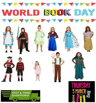 Fancy Dress Costume World Book Day Girls Dressing Up Boy Outfit Book Characters • 9.99£