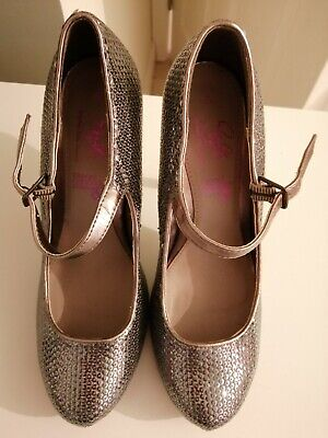 Dorothy Perkins Size 6 Pewter Sophie Shoes • 2.50£