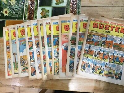 Buster And Jet Comic 1973 X 12 Issues Good Condition • 9.99£