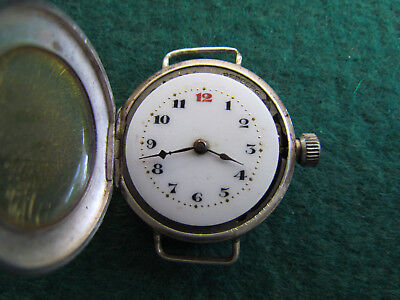 AU580 • Buy Vintage Rolex Sterling Silver 925 Trench Watch C1915 Working
