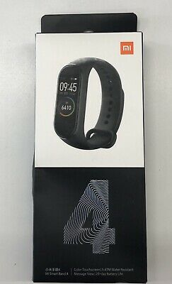 $34.99 • Buy Mi Smart Band 4 Black Xiaomi Top Seal On Box  Come Off Item Is New