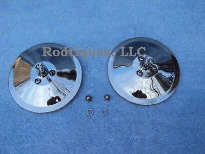 $39.94 • Buy 1935-1940 Ford Car 5  Mirror Heads Upgrade To Larger Mirrors 1936 1937 1938 1939
