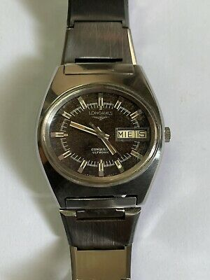 $ CDN165.41 • Buy Longines Conquest Ultronic Vintage Watch Tropical Dial Working Excellent