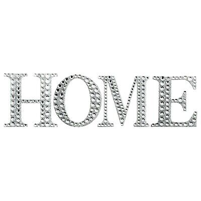 HOME DECOR DIAMANTE Silver Glitter Letters Wall Art Dining Living Room Kitchen • 3.99£