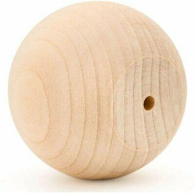 """$37.99 • Buy 2"""" Wooden Ball Knobs For Kitchen Cabinet, Drawer & Dresser By Woodpeckers"""