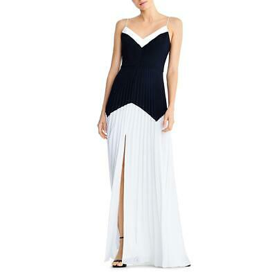 $42.49 • Buy Aidan By Aidan Mattox Womens Pleated Colorblock Evening Dress Gown BHFO 8032