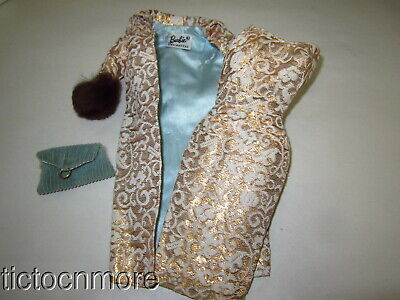 $ CDN13.22 • Buy Vintage Barbie Doll Fashion Clothes #961 Evening Splendor Dress Coat Purse
