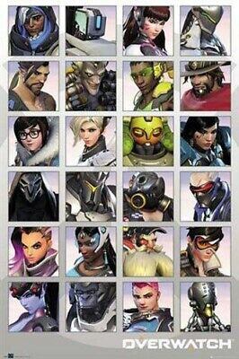 AU11.95 • Buy Overwatch Character Portraits Poster