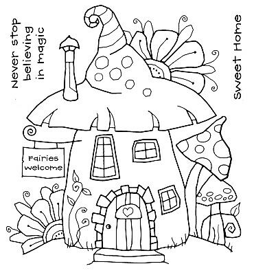 FAIRY HOUSE - Clear Magic Stamp - Woodware • 3.99£