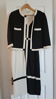 Dress And Jacket Damsel In A Dress Black And White Size 10 Wool • 45£