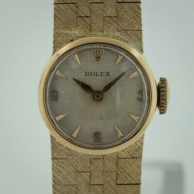 $ CDN3467.70 • Buy Rolex Orchid Vintage Ref 8901 18K Solid Yellow Gold, Ladies, Solid Gold Bracelet