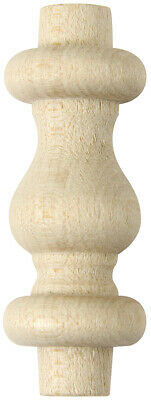 $8.79 • Buy 10 Pcs - 1-1/2  Wood Turned Spindle Furniture And Crafts - Birch - Platte River