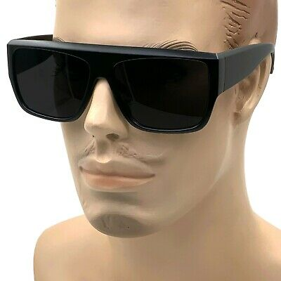 $8.95 • Buy 2021 MENS Black Flat Top New Large Motorcycle Style Sunglass OG Sunglasses XL