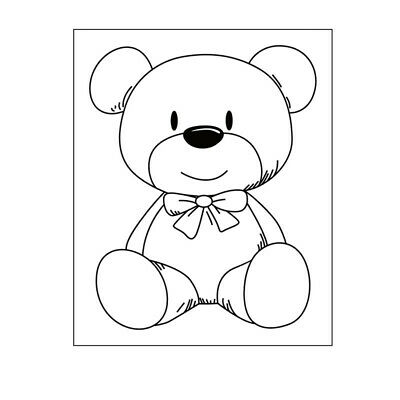Teddy Bear Bow Transparent Clear Stamps Metal Cutting Dies Craft Card Making • 4.73£