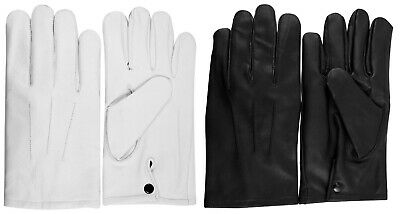 $34.68 • Buy Guard Marching Band Marching Parade Military Leather Dress Gloves With Snaps