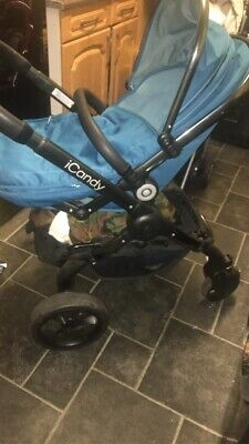 Icandy Peach Peacock With Footmuff Car Seat Clips & Raincover Plus A Nappy Bag • 250£