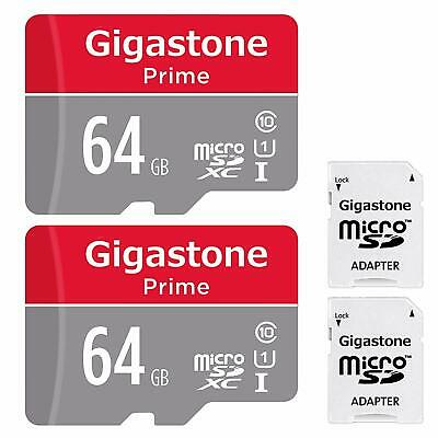 $25.49 • Buy Gigastone 64GB 2-Pack Micro SD Card With Adapter, U1 C10 Class 10, Full HD Avail