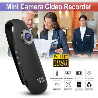 HD 1080P Mini Camcorder Police Body Motorcycle Security Action Camera  Recorder • 16.55£