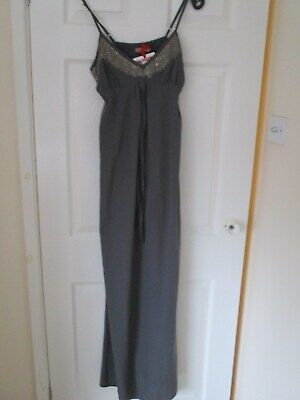 £5.99 • Buy Ladies TK MaX Silver Sequined Maxi Dress, Adjustable Straps, Size M NEW With Tag