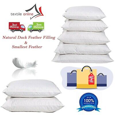 Duck Feather & Down Filled Cushion Inner, Inserts, Fillers, Pads In All Sizes • 4.99£