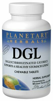 Planetary Herbals DGL, Deglycyrrhizinated Licorice, 200 Chewable Tablets • 12.85£