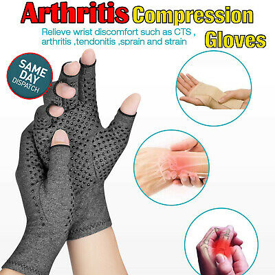 AU13.50 • Buy Magnetic Arthritis Gloves Soft Compression Hand Therapy Support Sore Finger