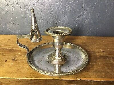 Vintage Candle Holder Snuffer Silver Plate Candlestick • 19.99£