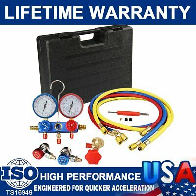 $48.99 • Buy A/C AC Manifold Gauge Set R410a R22 R134a With Hoses Coupler Adapters+ 1/2  ACME