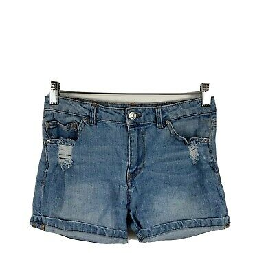 AU17.81 • Buy Pull And Bear Womens Denim Shorts Size 36 (AU 8) Distressed With Pockets