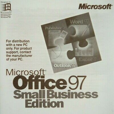 Microsoft Office 97 Small Business Edition OEM New With License -Windows • 15£