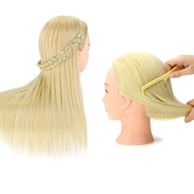 $29.68 • Buy REAL Human Hair Hairdressing Training Head Mannequin Salon Practice WITH Clamp