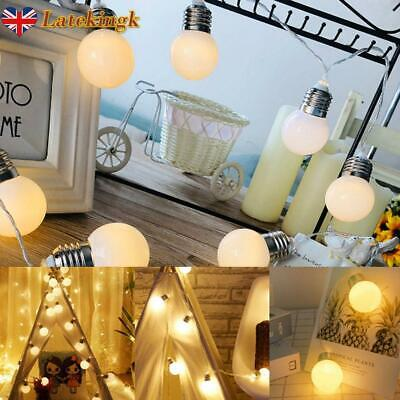 G45 Globe Light Bulb String Light 10 Bulbs LED Party Hanging Fairy Lights Decor • 5.38£