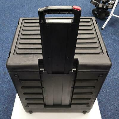 Used SKB 8U Roto Rolling Rack Flight Case With Wheels And Trolley Handle • 199£