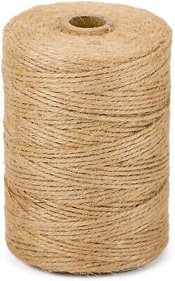 10m-1000m 3 Ply Natural Brown Soft Jute Twine Sisal String Rustic Cord Shabby • 1.49£