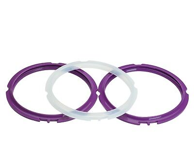 $7.50 • Buy Silicone Sealing Rings For Instant Pot 3 Quart. Purple And Clear. Replacements.