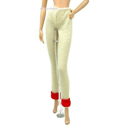 £8.25 • Buy  Barbie Jersey Leggings Red Cuffs Millicent Roberts Goin To The Game