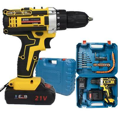 View Details 21V Cordless Drill Electric Screwdriver 30pcs Drill Driver Kit+Battery&Charger • 41.98$