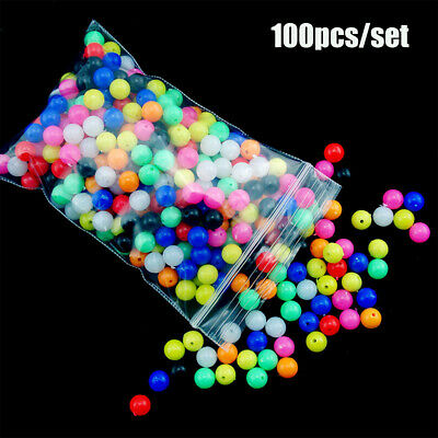 AU9.40 • Buy Mixed Color PE Plastic Fishing Cross Beads Floats Balls Double Pearl  Drill
