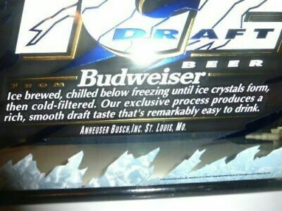 $ CDN158.21 • Buy * 1990's BUDWEISER ICE BEER SIGN Mirror Man Cave Bar Sign Mirrored Sign