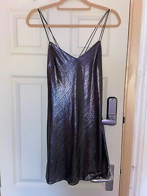 Topshop Finds Silver Cami Dress Size 8  • 4£