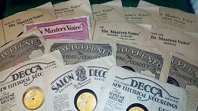 JOB LOT OF 17 78rpm GRAMOPHONE RECORDS IN ORIGINAL PARLOPHONE/HMV/DECCA SLEEVES • 47.99£