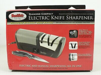 $35.99 • Buy Smiths Diamond Compact Electric And Manual Knife Sharpener 50132