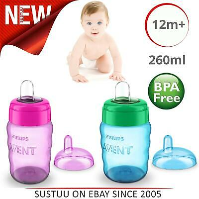 £7.71 • Buy Philips Avent Easy Sip Spout Cup Hassle-Free Dishwasher Safe 260ml Pink Blue