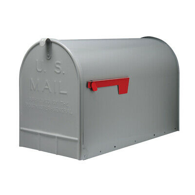 $36.99 • Buy Gibraltar Mailboxes Extra Big Steel Stanley Post Mount Mailbox, Gray (Open Box)