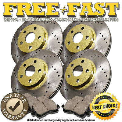 $ CDN166.21 • Buy G0313 FRONT+REAR Drilled GOLD Rotors Ceramic Pads FOR 1997 Legacy Wagon GT LSI